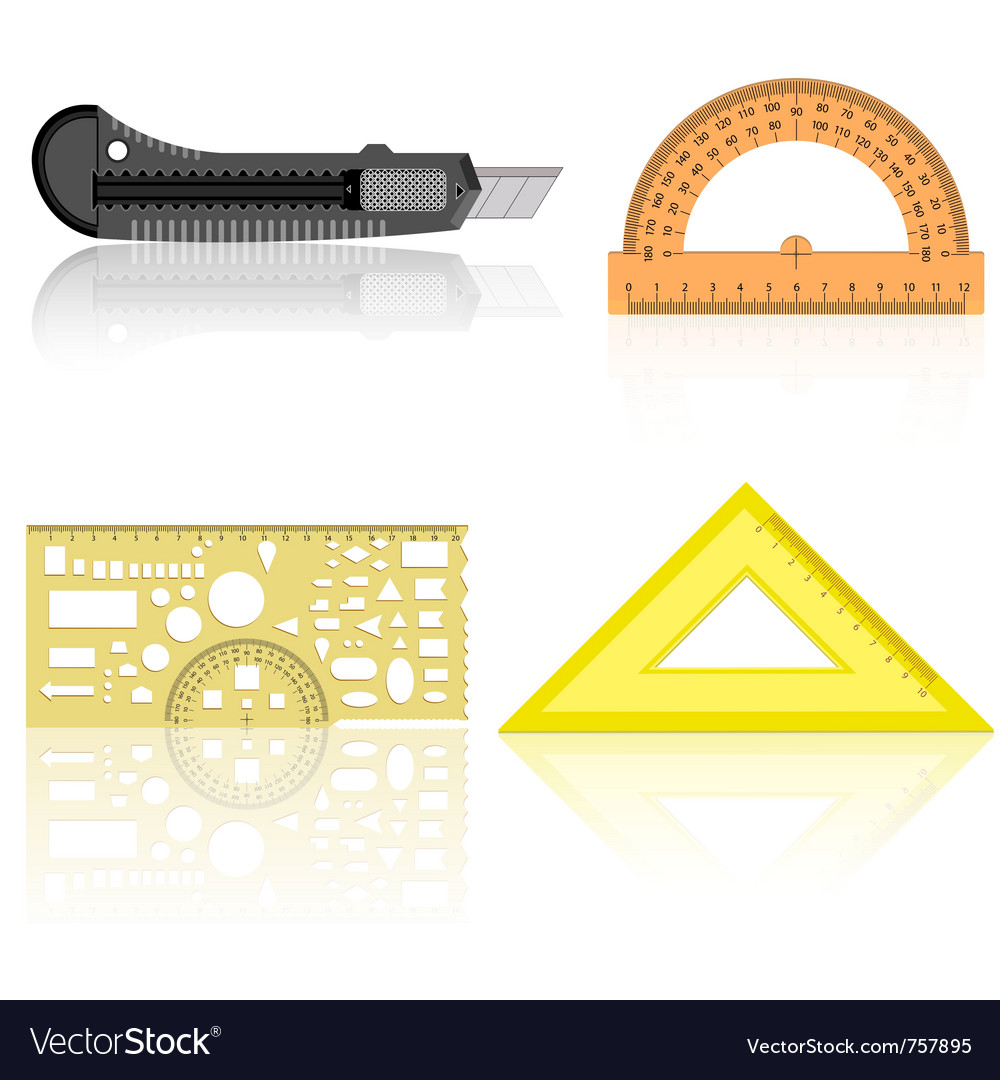 Knife ruler protractor