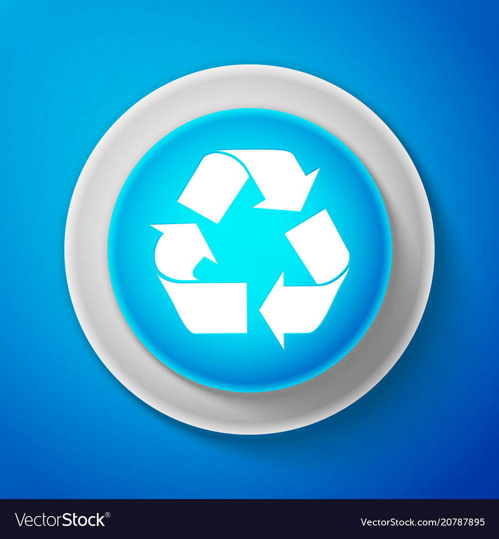 Recycle symbol environment recyclable go green vector image