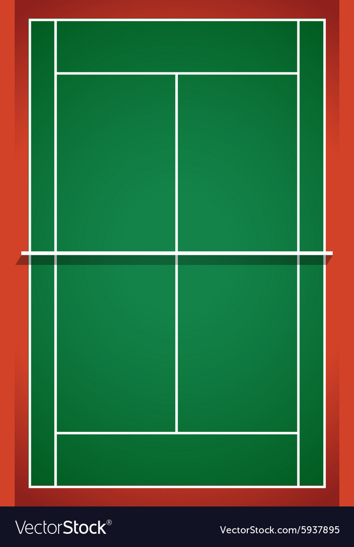 Tennis Court From Top View Royalty Free Vector Image