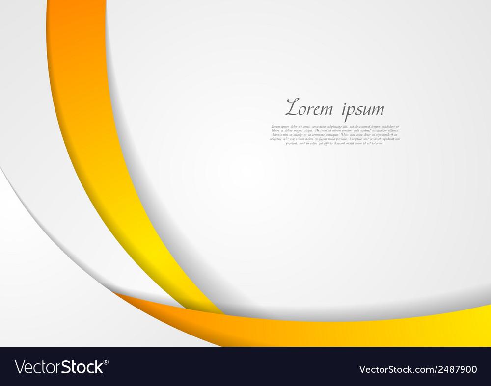 Abstract corporate wavy backdrop vector image