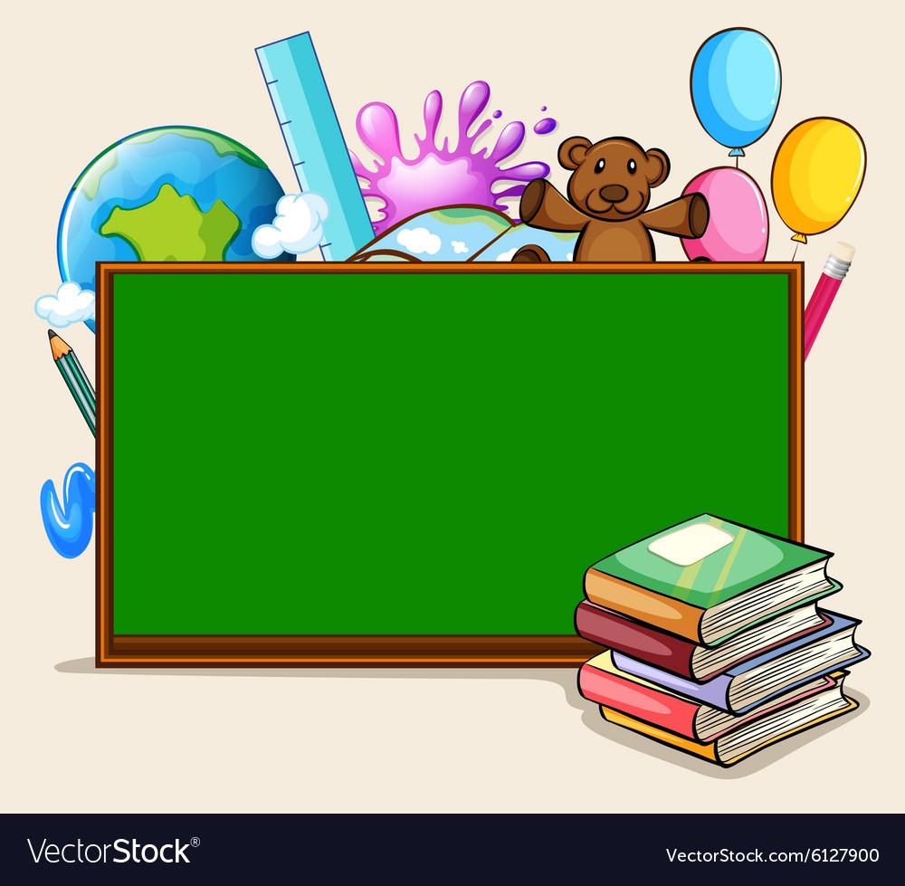 Blackboard and school objects