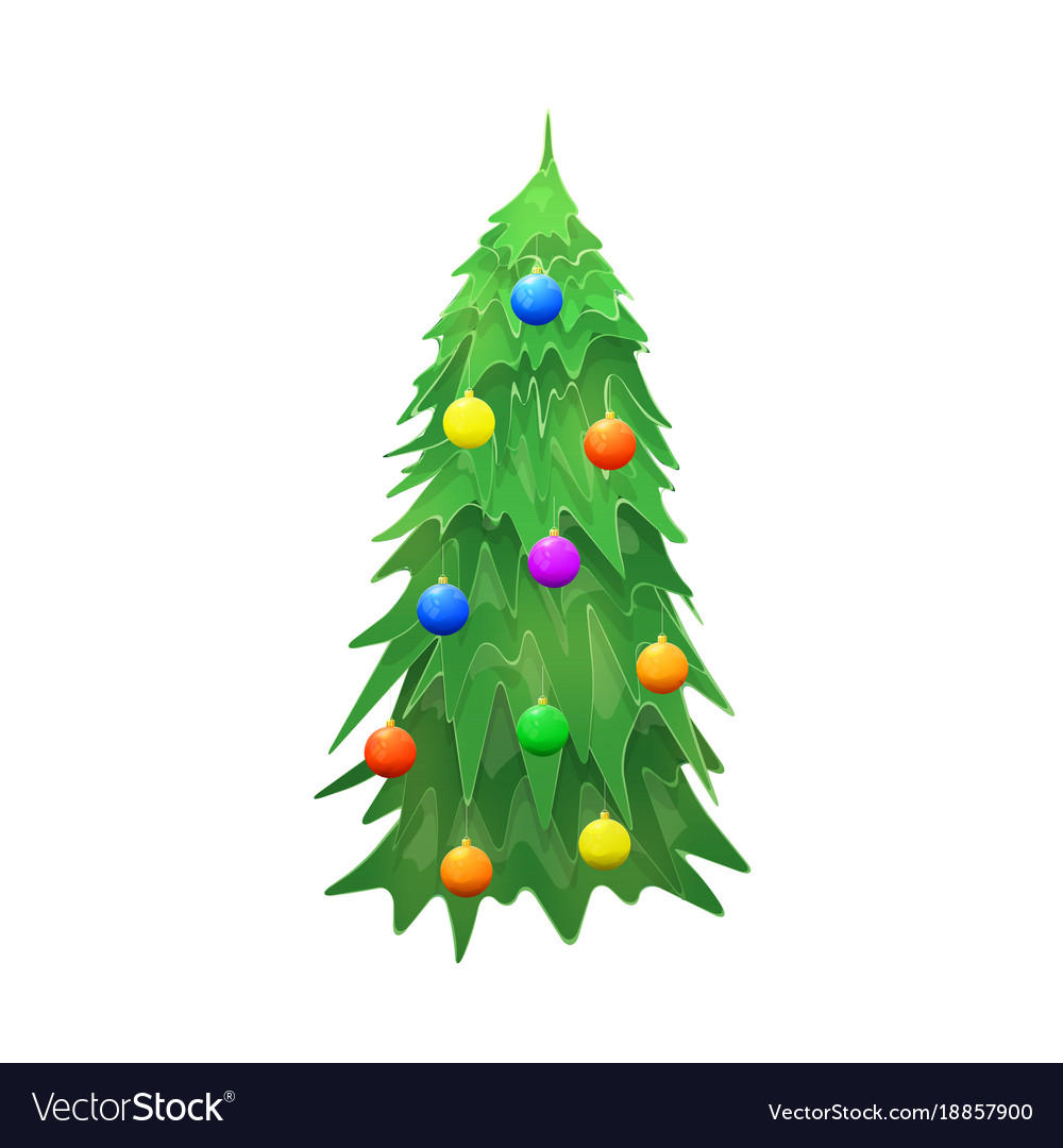 Christmas tree isolated on wite background