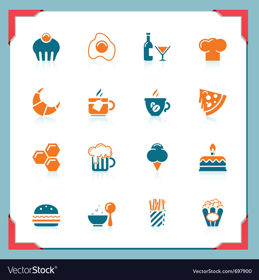 Food icons 2 - in a frame series