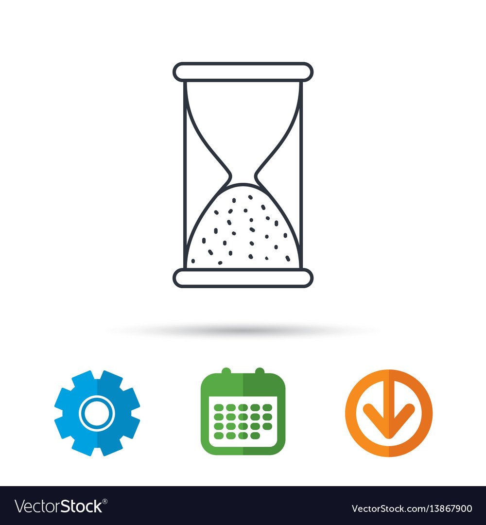 Hourglass icon sand time sign vector image