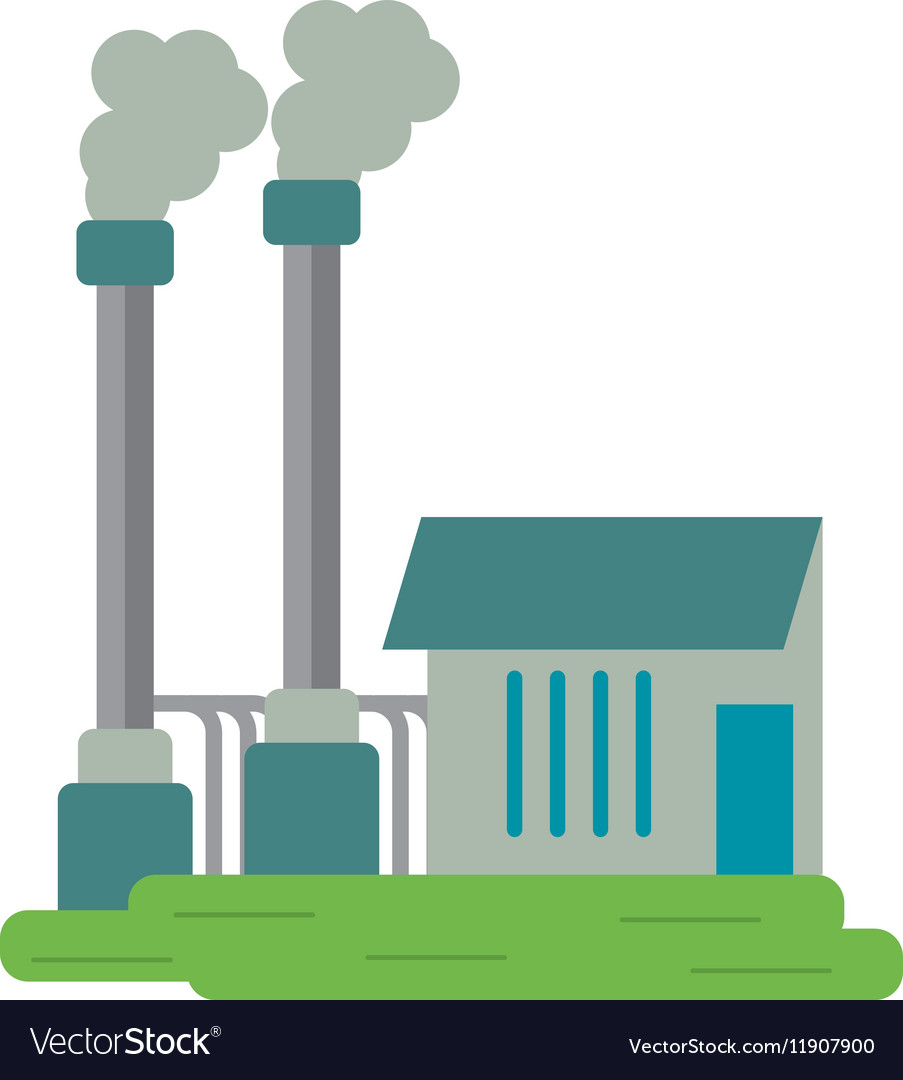 Industrial factory buiding pollution symbol