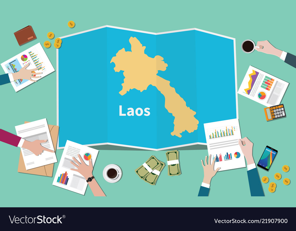 Laos country growth nation team discuss with fold