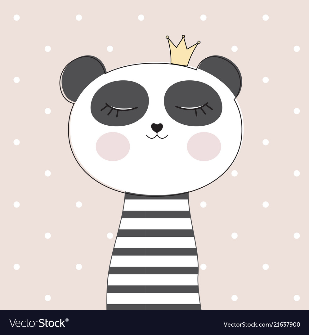 Little cute panda princess