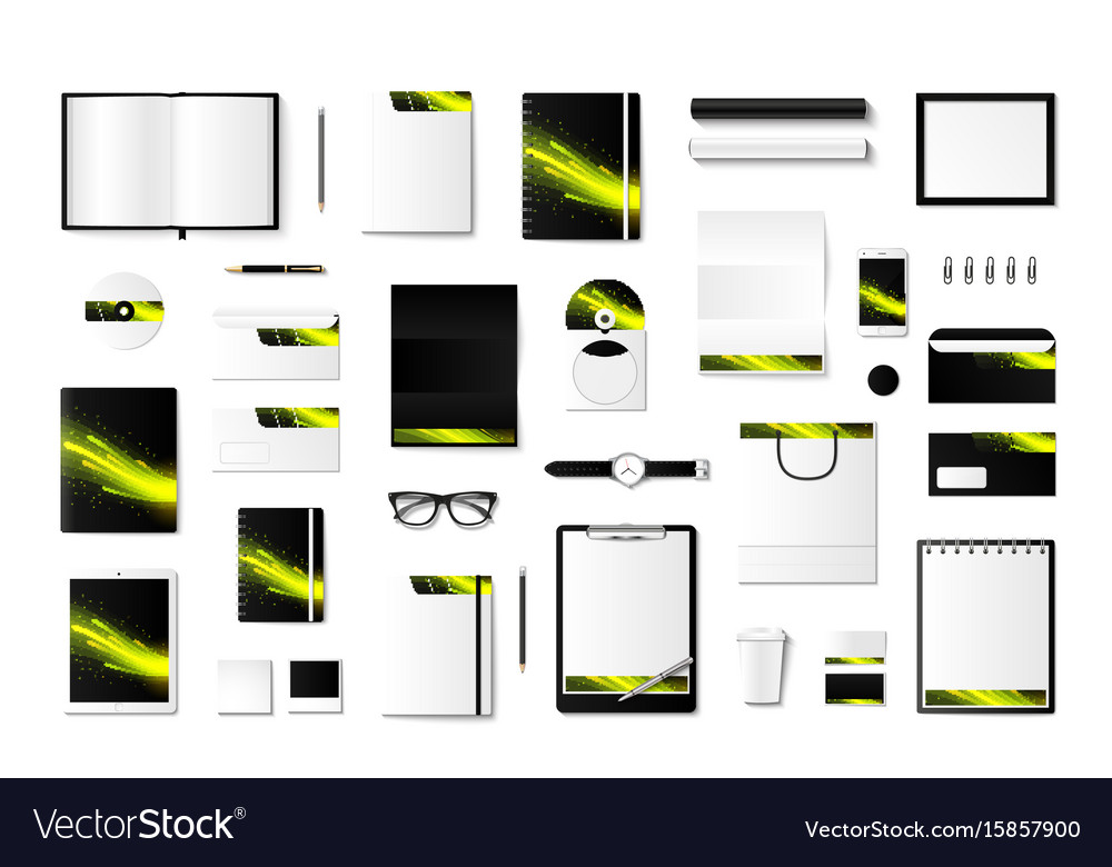 Set of mock-ups of corporate style