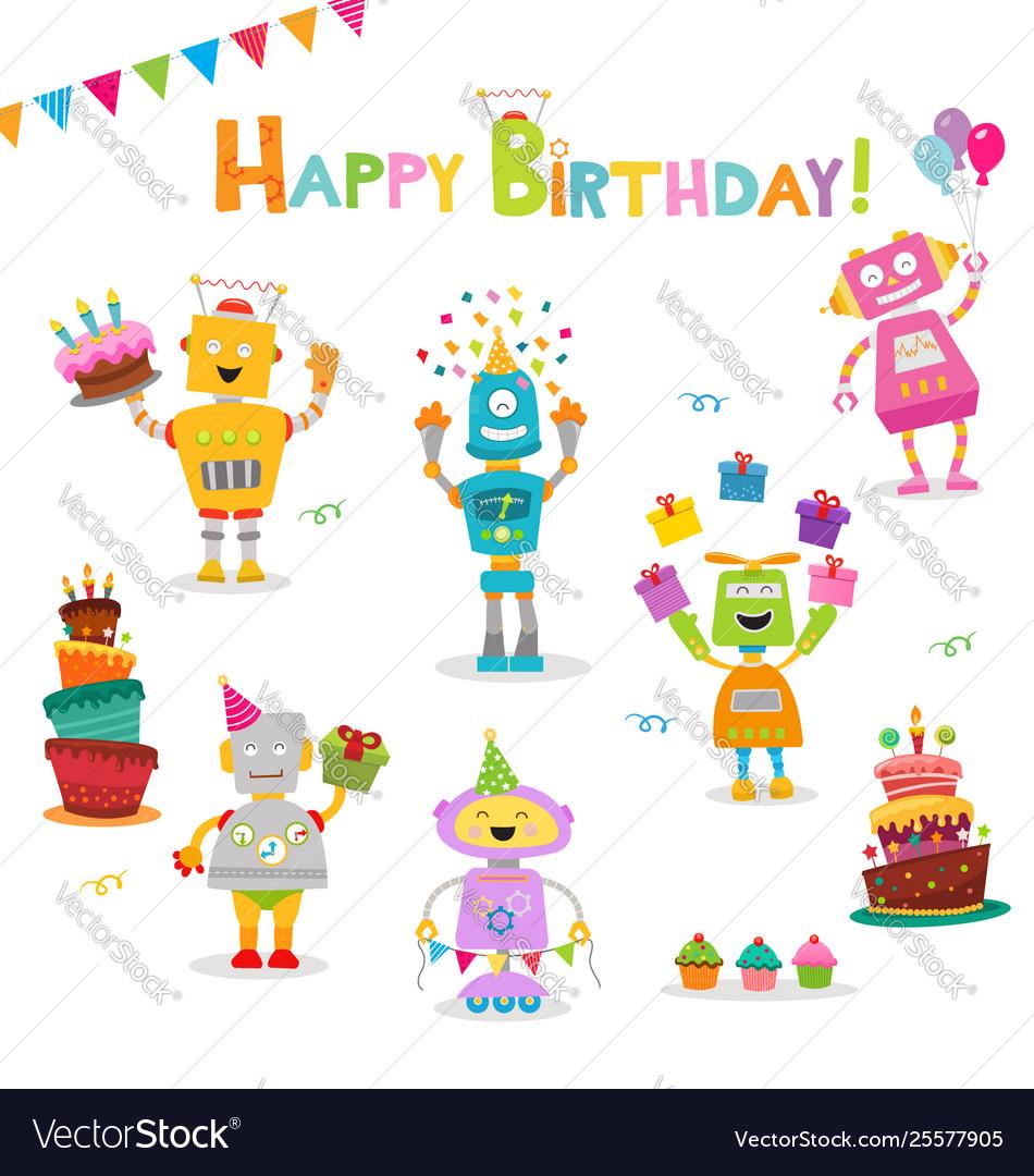 Birthday robot set