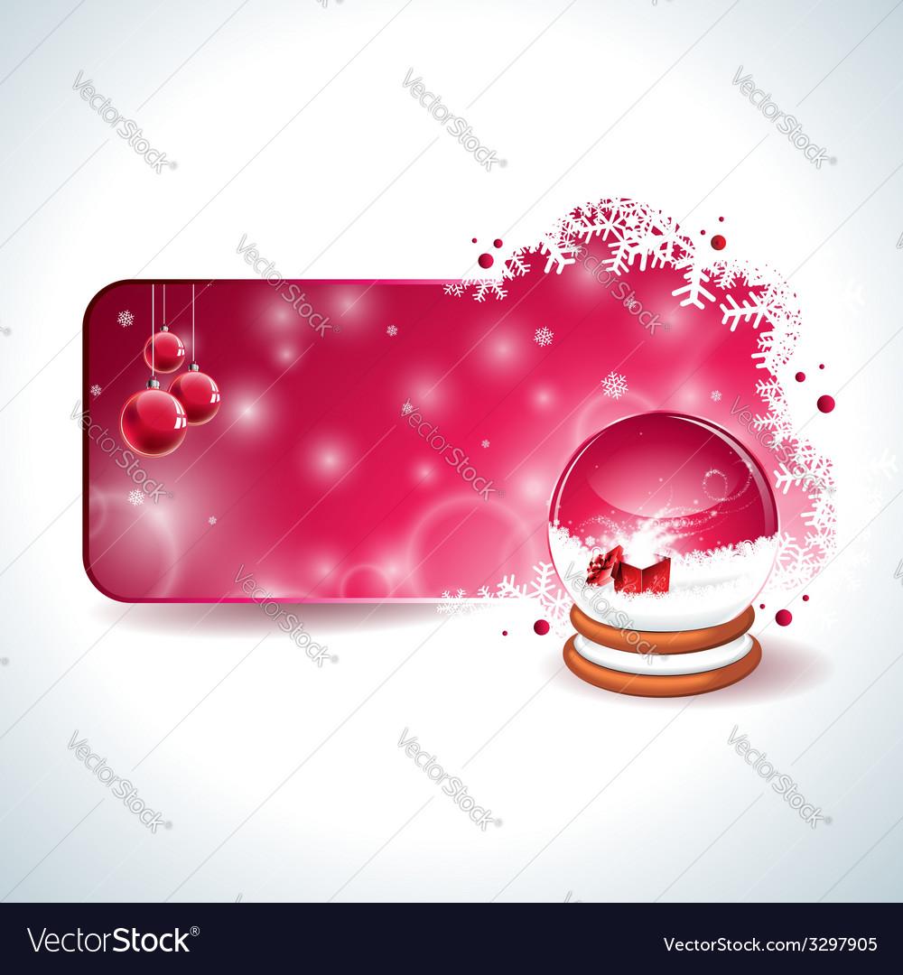 Christmas design with magic snow globe