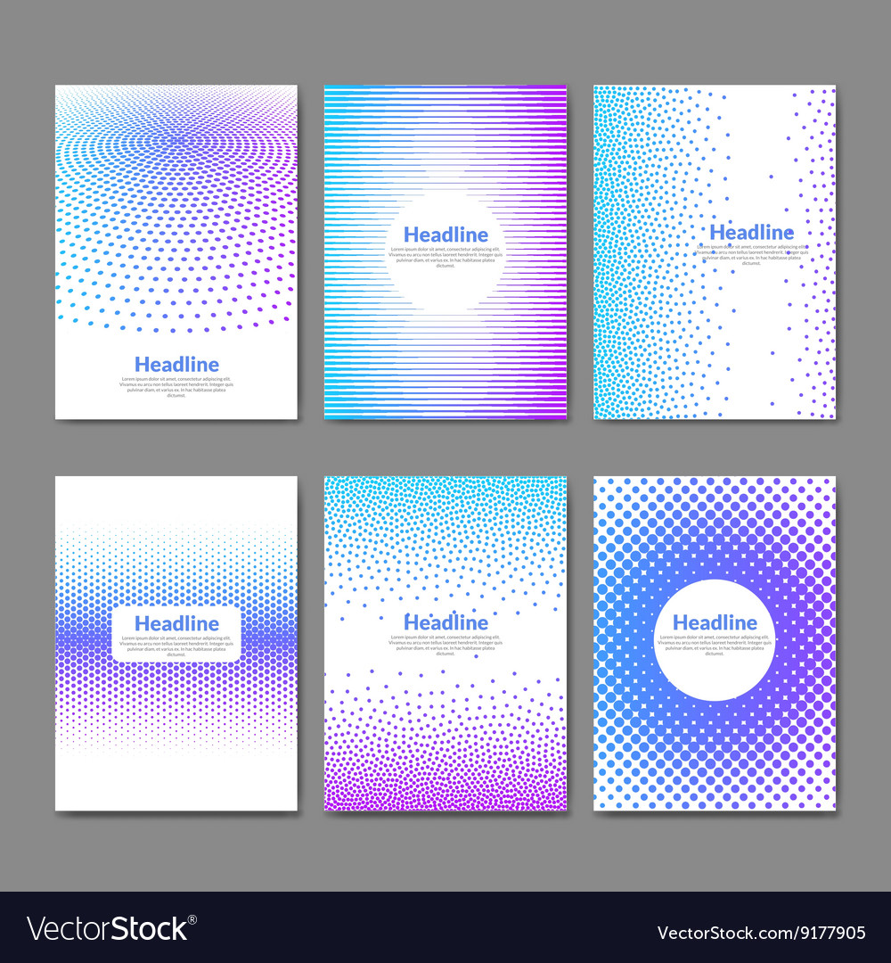 Dotted flyer deisgn template Brochure cover book