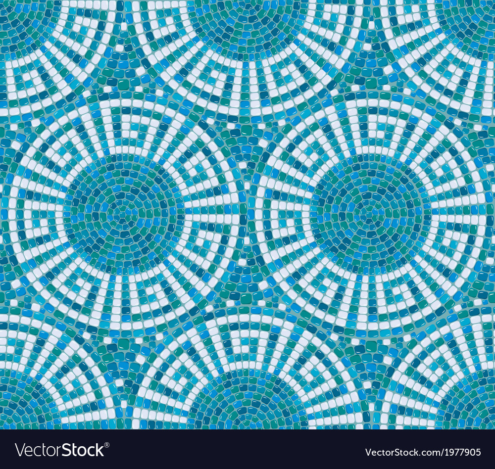 Seamless mosaic pattern - Blue ceramic tile - clas