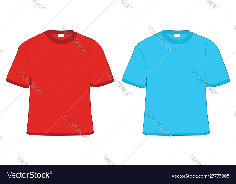 T-shirt red and blue