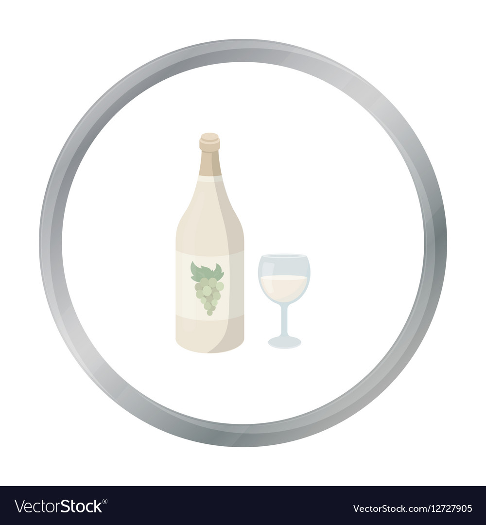 White wine icon in cartoon style isolated on white