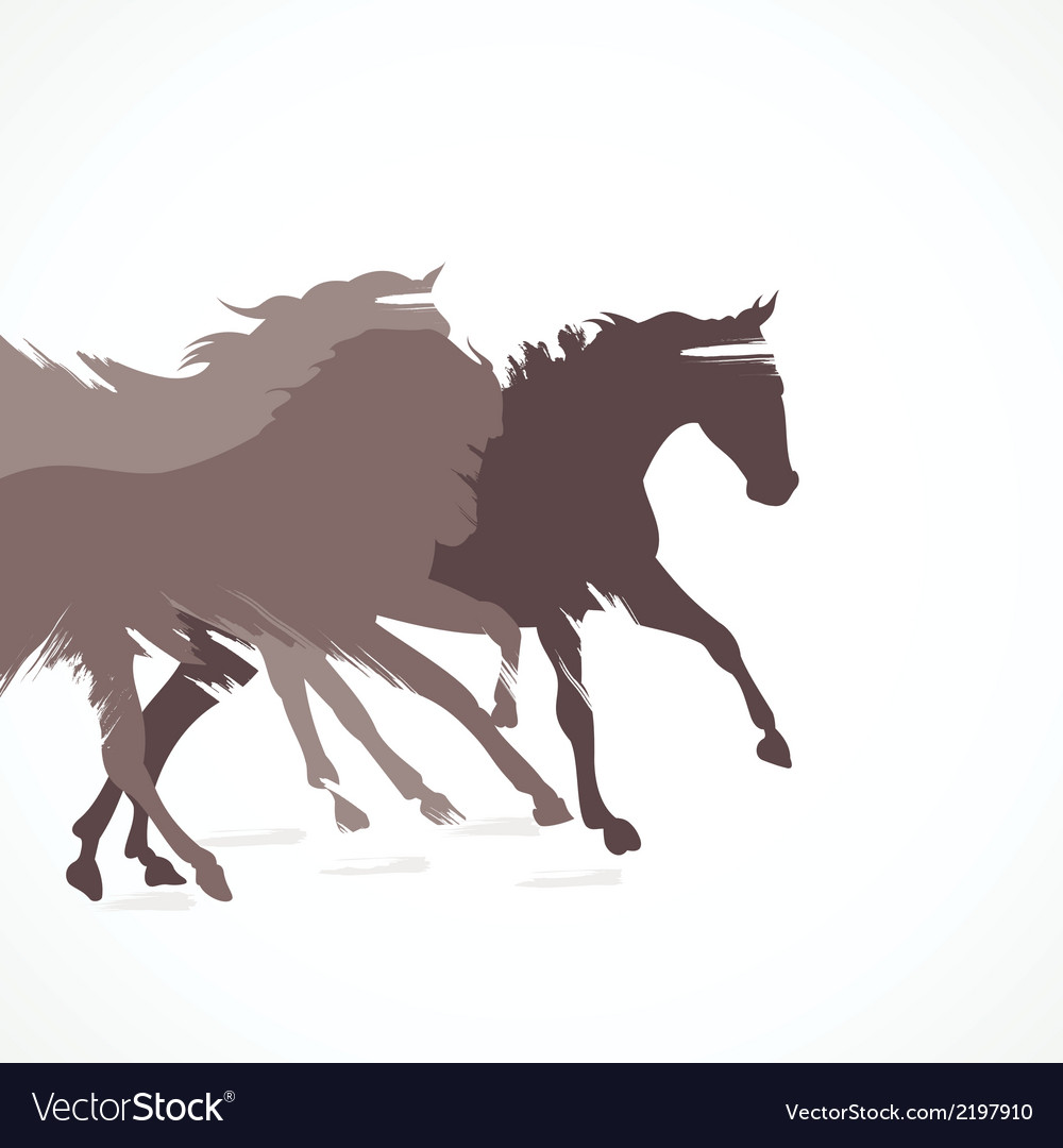 Abstract Running Horse Background Royalty Free Vector Image