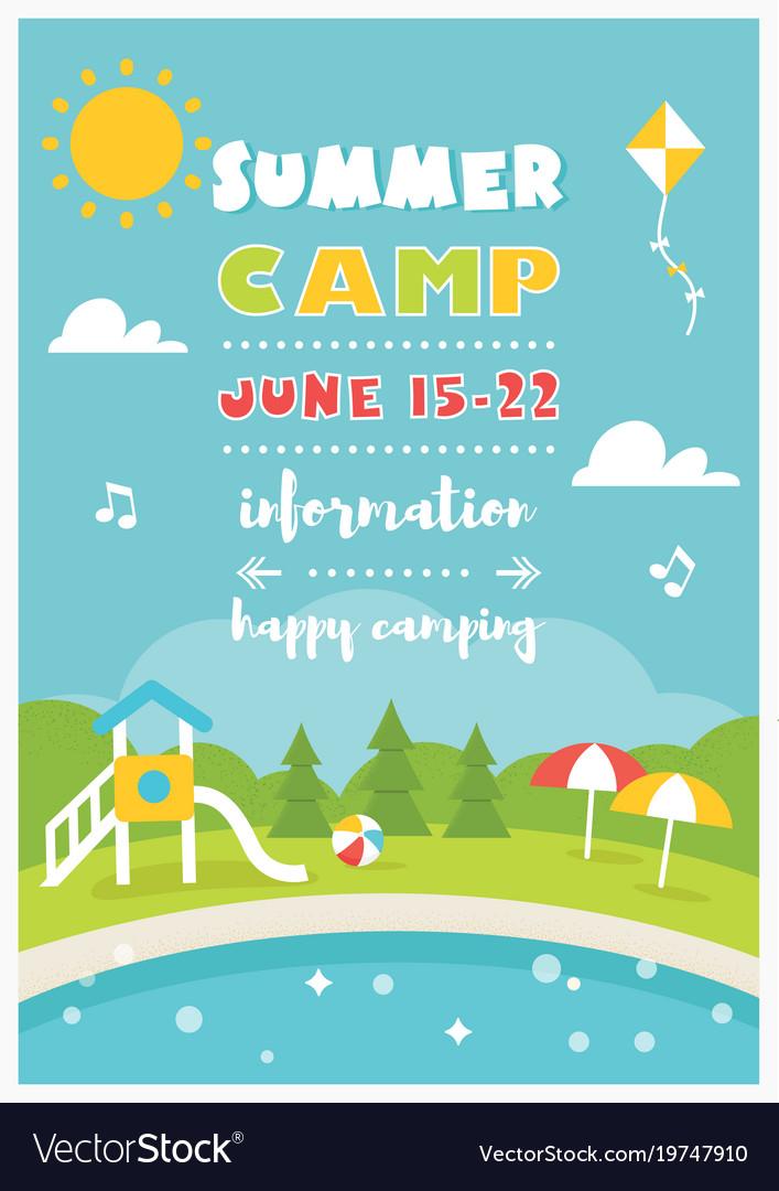 79  kids summer camp poster design