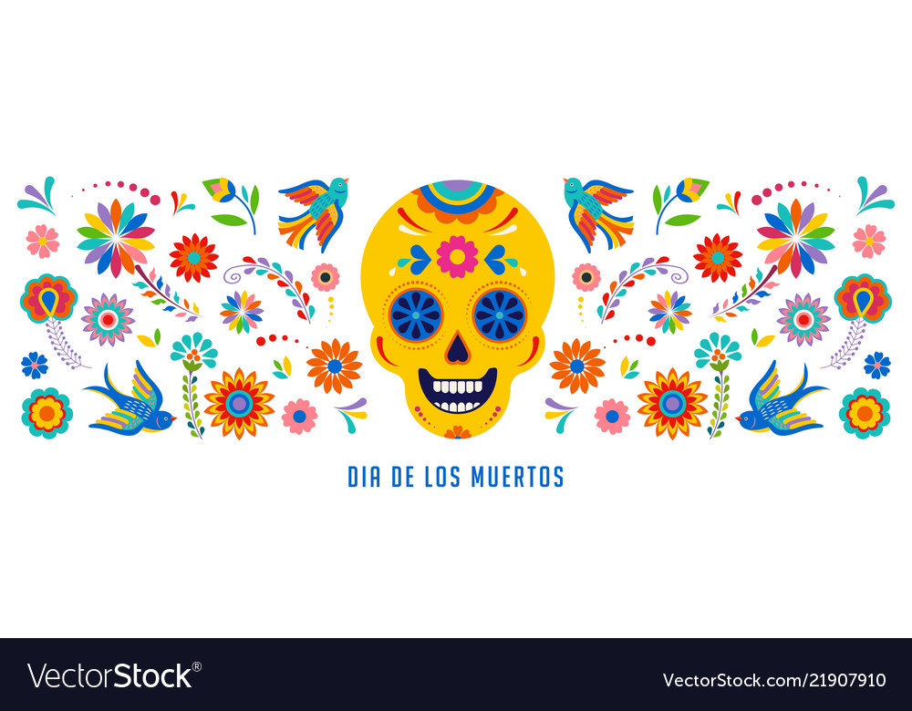 Day of the dead dia de los muertos background