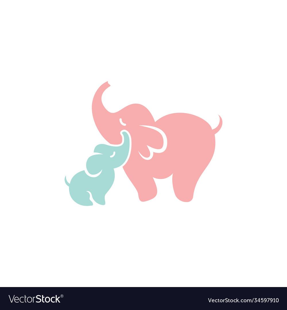 Elephant icon design template isolated