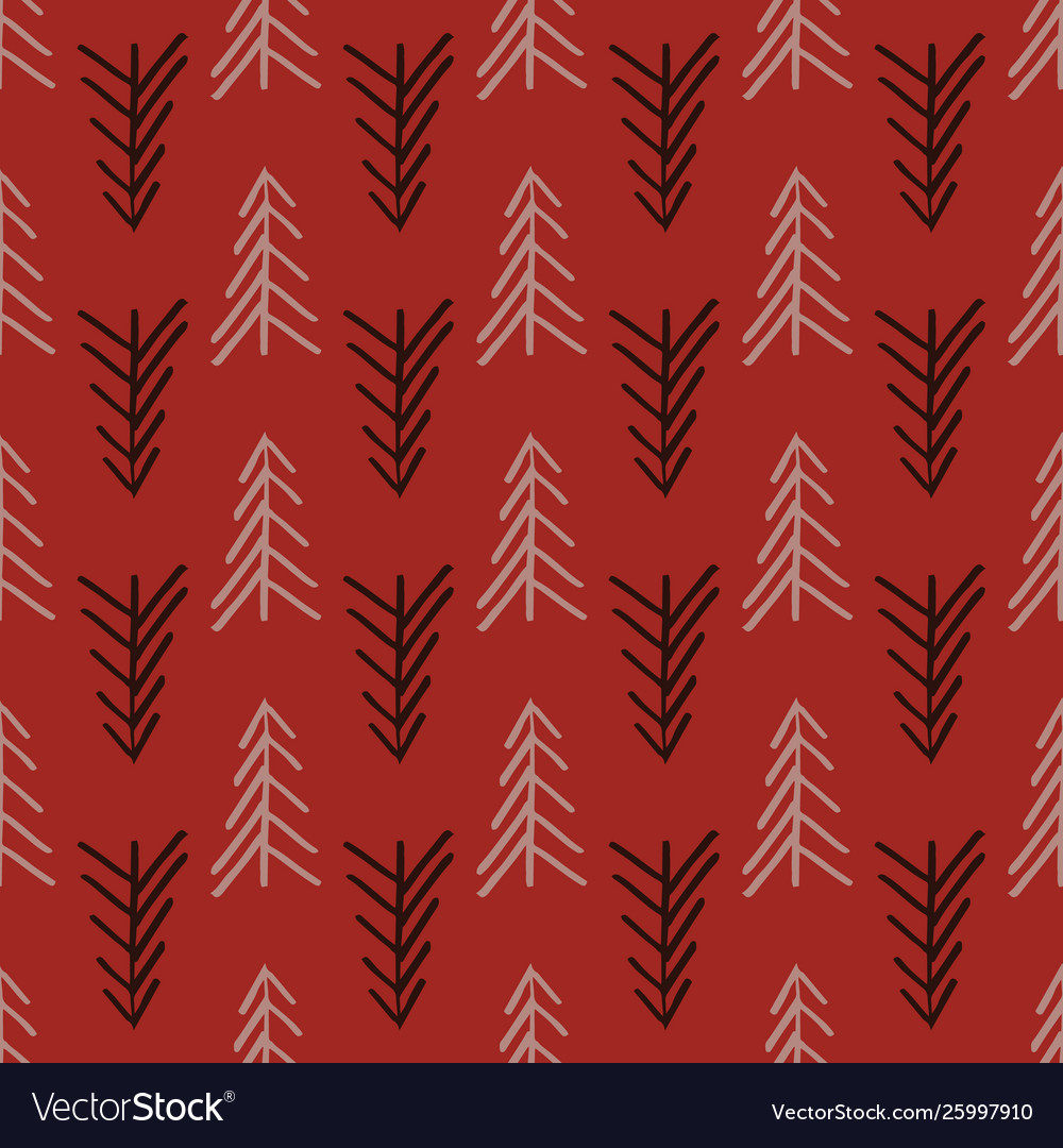 Pink herringbone tree seamless repeat pattern