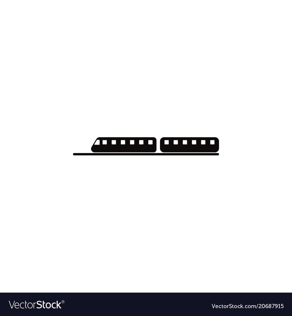A train icon element of popular car icon premium vector image