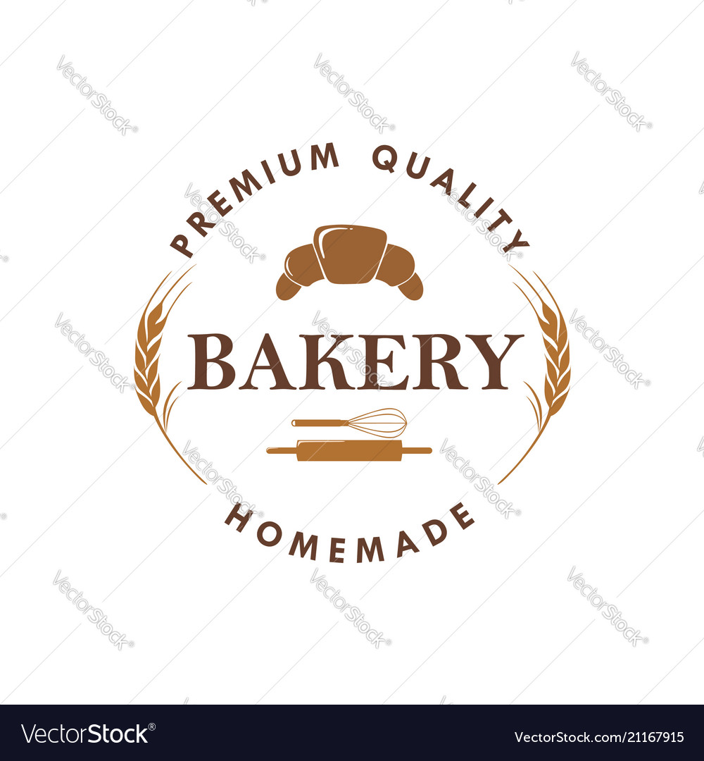 Bakery dessert baverage sign logo template
