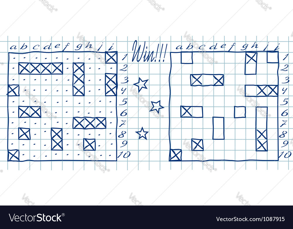 Battleship game vector image