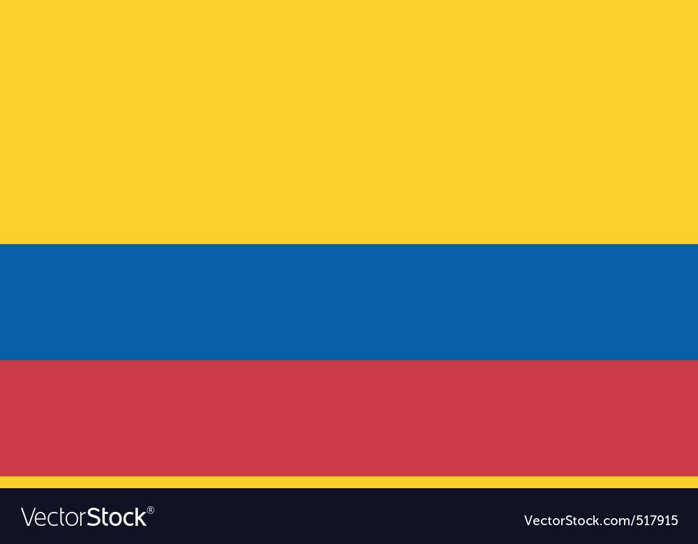 colombian flag royalty free vector image vectorstock