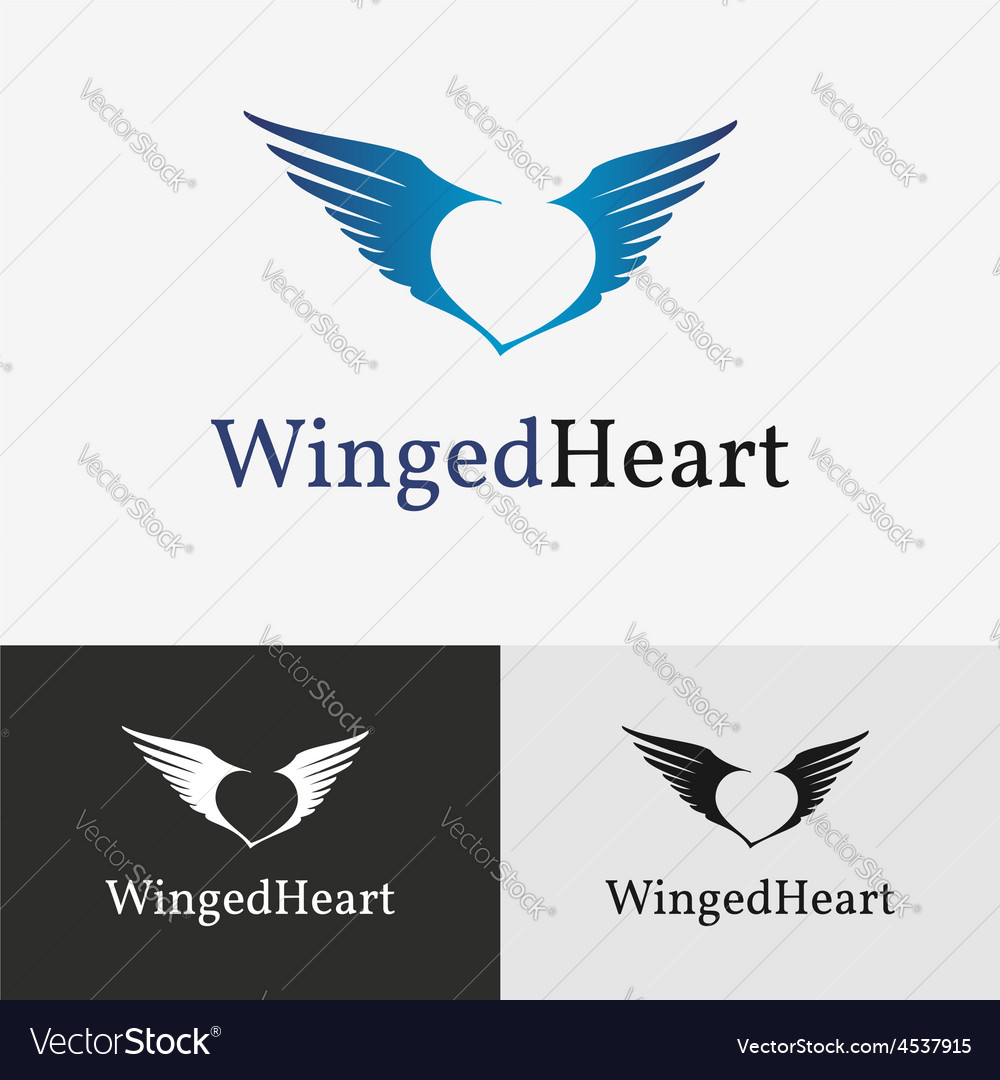 Flying wings Logo template
