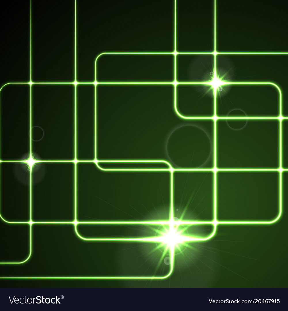 Glow Neon Green Lines Abstract Background