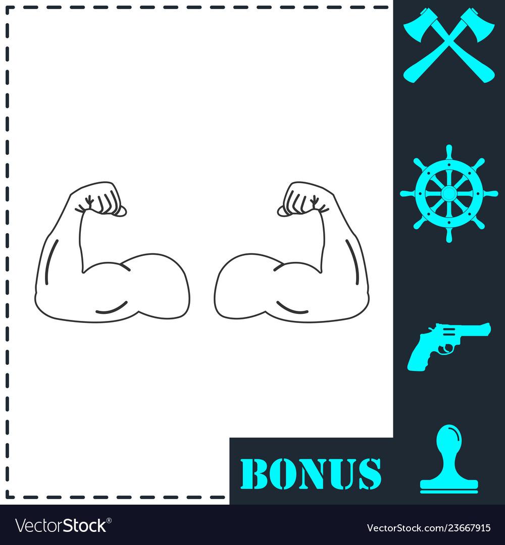Gym icon flat