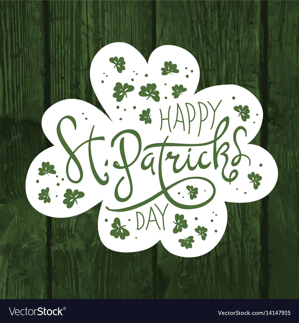 Happy saint patricks day logotype celebration