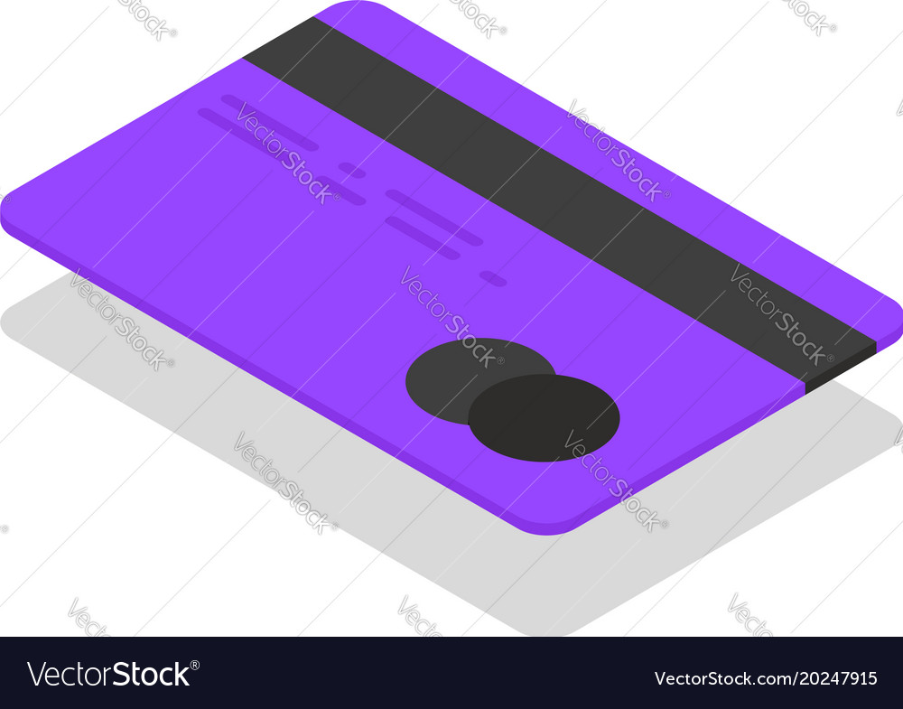 Isometric credit card against