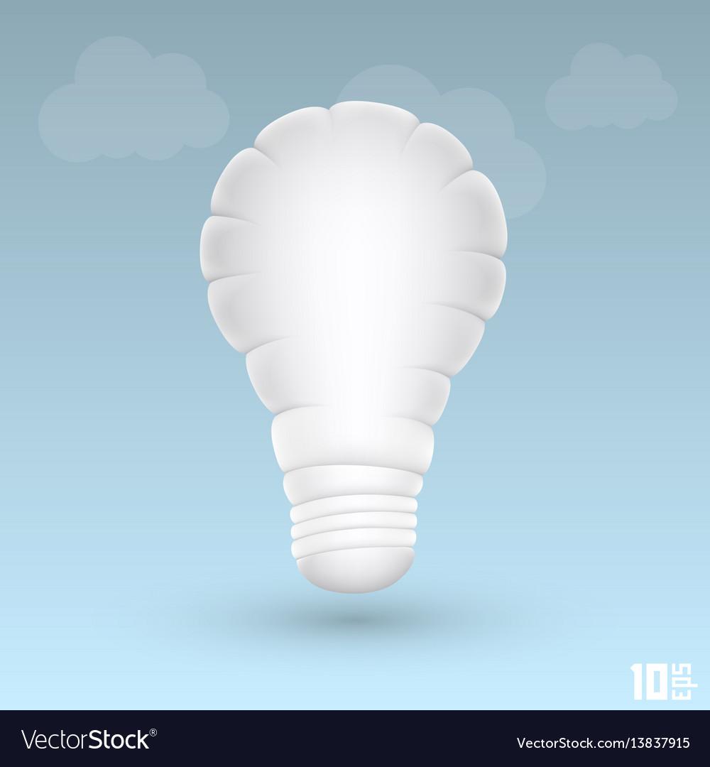 Light cloud vector image