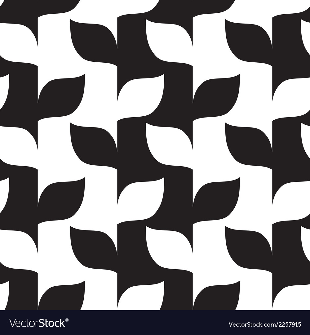 Seamless leaves in black and white pattern