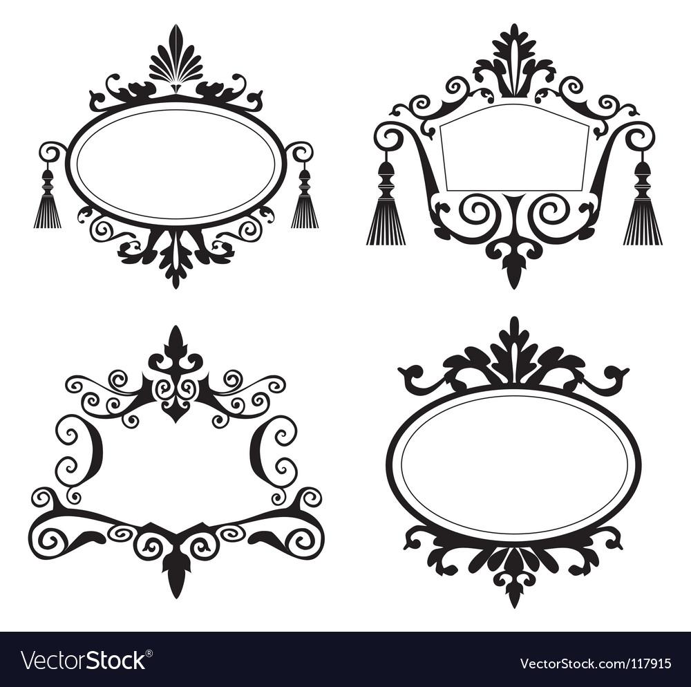 Set of decorative frames Royalty Free Vector Image