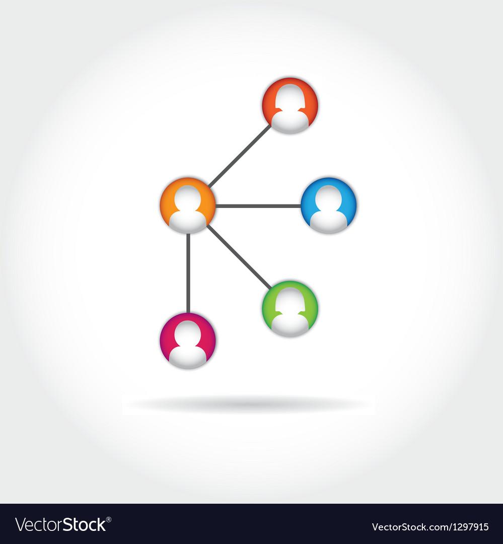 Social icon group element flirtation intern vector image
