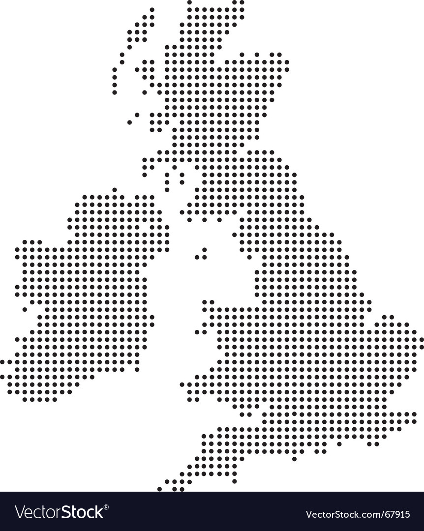Uk dot map Royalty Free Vector Image   VectorStock