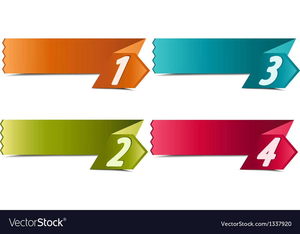 4 number banners