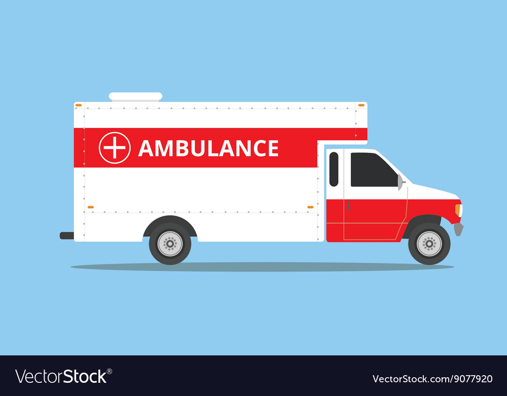 Ambulance car vehicle emergency with fast come