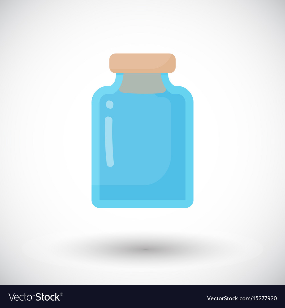 Glass empty jar flat icon vector image