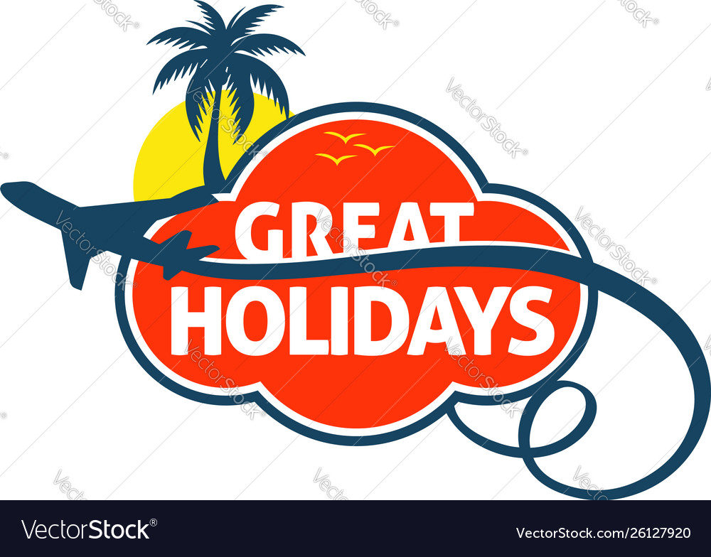 Great holidays travel trips logo symbol