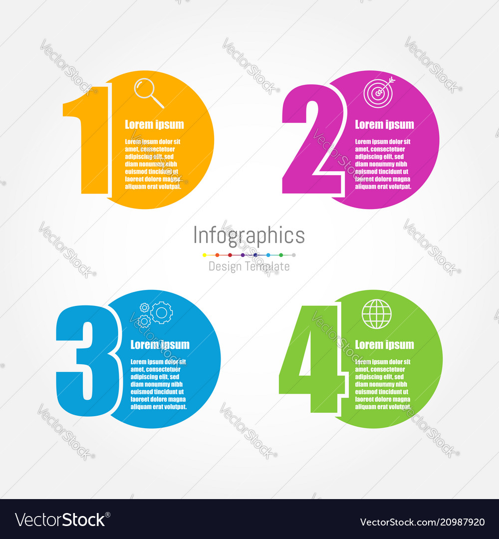 Infographic design template with four options
