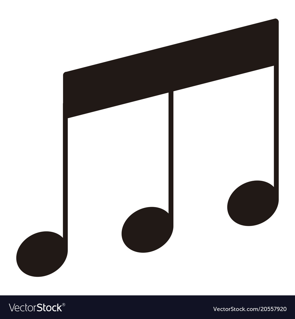 Isolated eighth beamed note musical note vector image