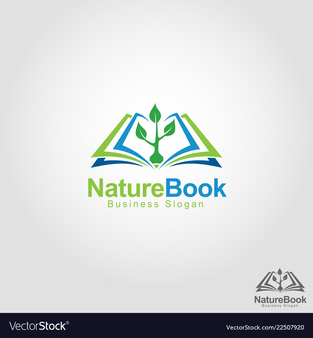 Nature book - health education school logo