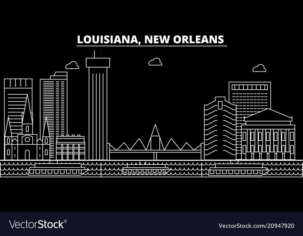 New orleans silhouette skyline usa - new orleans