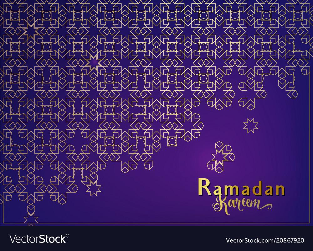 Ramadan background with islamic mosque arabian