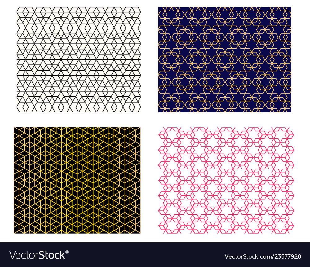 Set of seamless islamic pattern art
