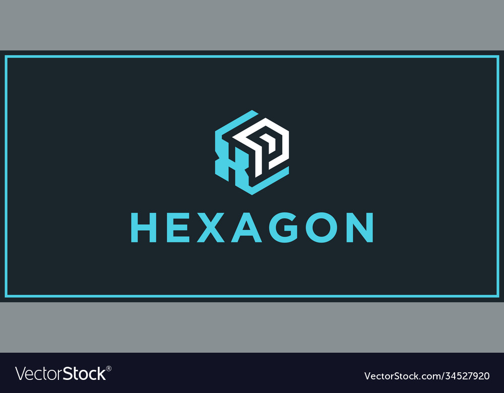 Xp hexagon logo design inspiration vector