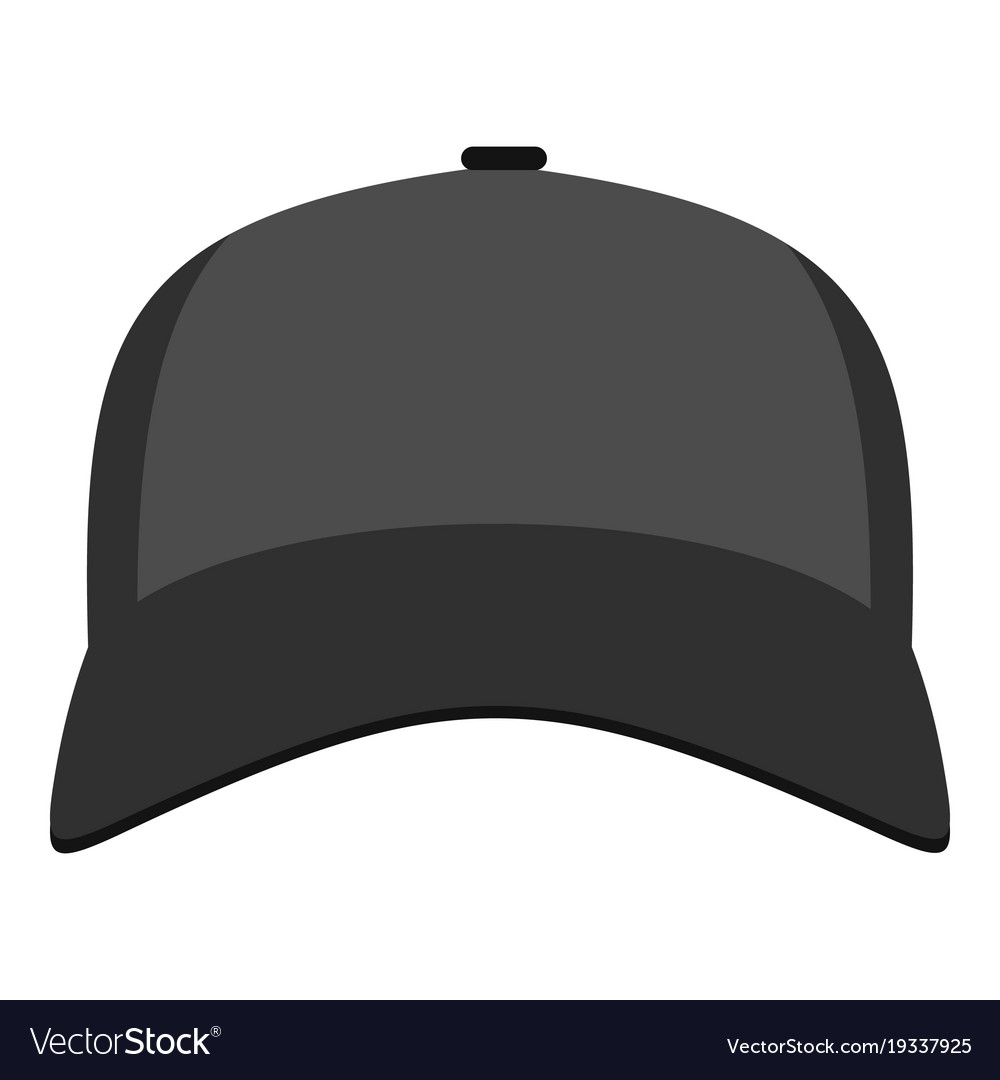 30e4f1e02d2b8d Baseball hat in front icon flat style Royalty Free Vector