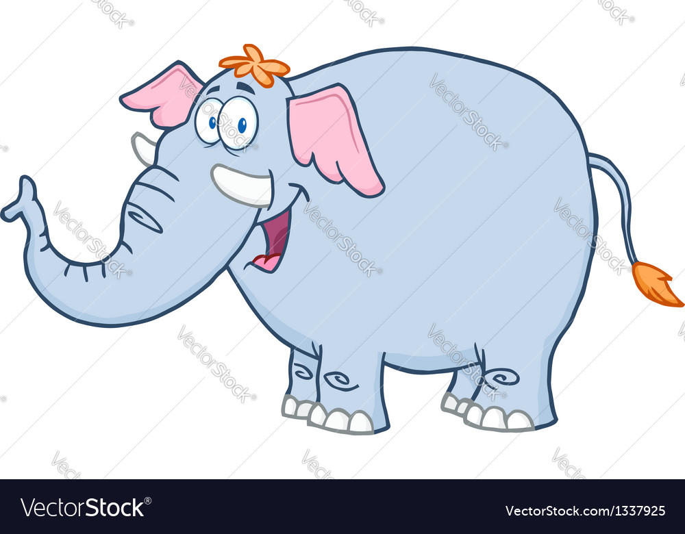 Elephant Cartoon Mascot Character